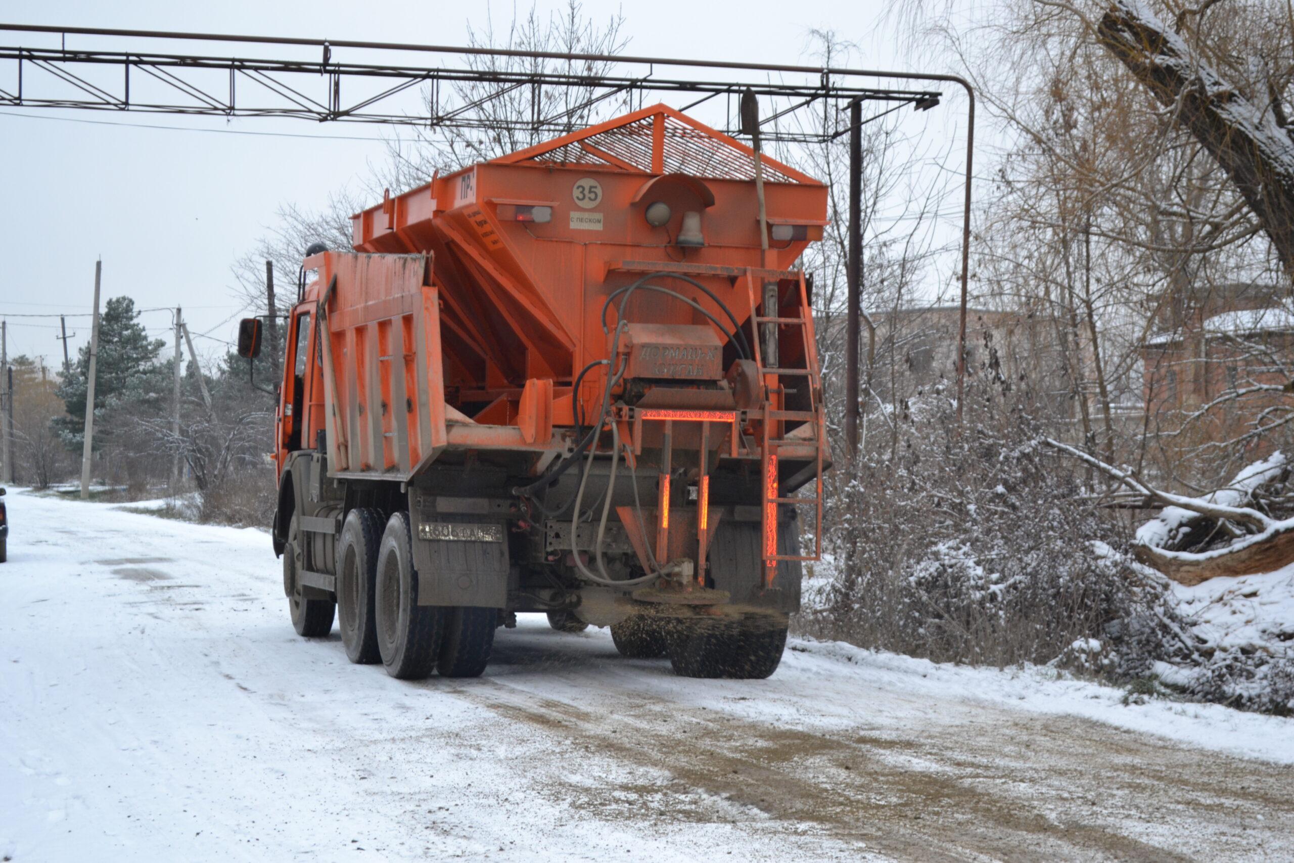 Первый снег Абинское городское поселение встретило во всеоружии