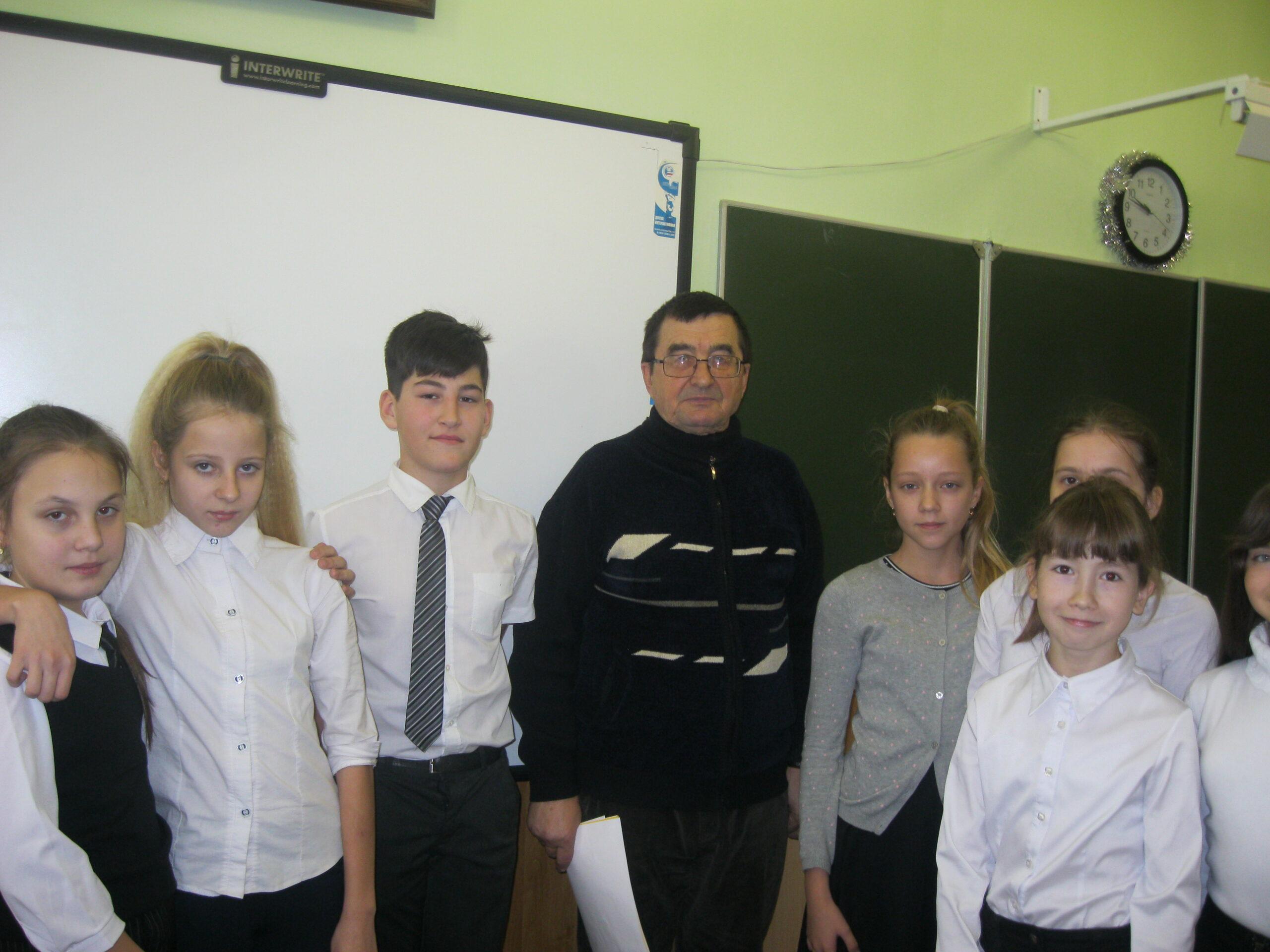 Урок сказок провел в абинской школе журналист, краевед, действительный член Русского географического общества