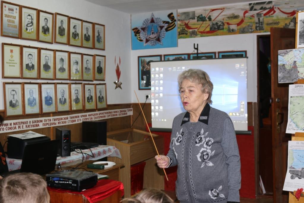 В абинском военно-патриотическом центре «Казачата Кубани» для шестиклассников прошел урок мужества
