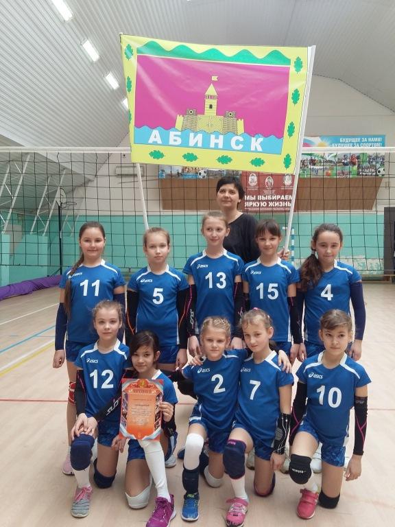 Абинские волейболистки победили в турнире