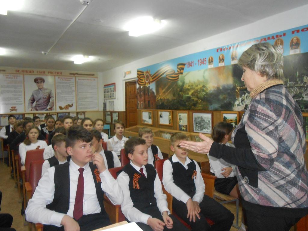 Школьникам Абинского района рассказывают об освобождении станицы Абинской от немецко-фашистских захватчиков