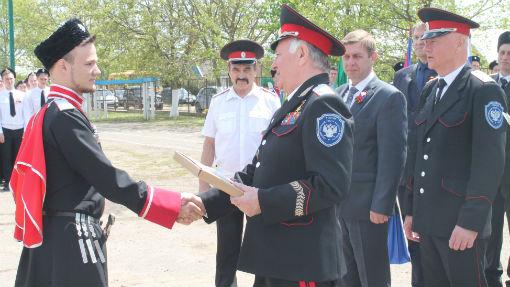 В Абинском районе побывал вице-губернатор Кубани, атаман Кубанского казачьего войска Николай Долуда