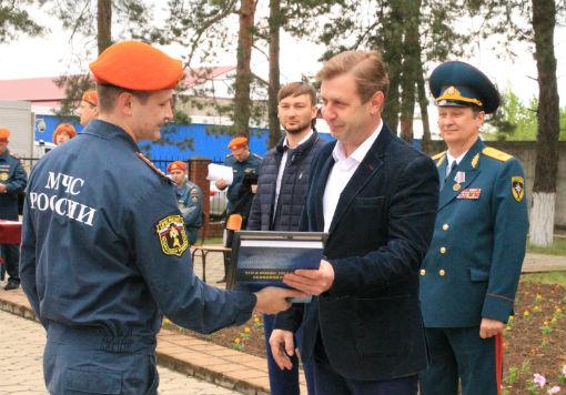 В Абинском районе прошли масштабные учения МЧС