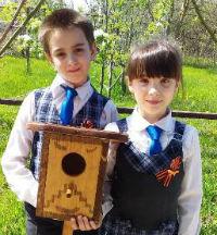Абинские третьеклассники провели фестиваль птичьих домиков