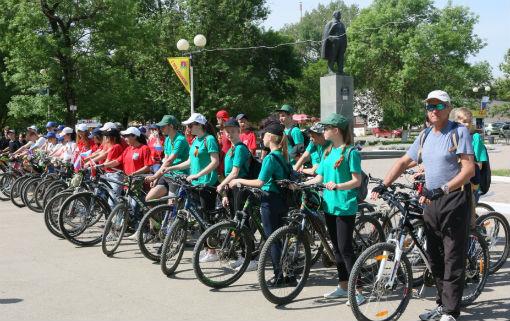 Абинские школьники приняли участие в велопробеге