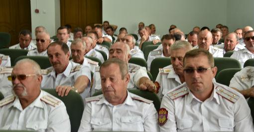 Казаки Абинского РКО приняли участие в расширенном совете атаманов Таманского отдела