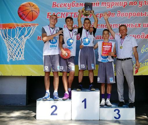 Абинчане завоевали Кубок губернатора по уличному баскетболу