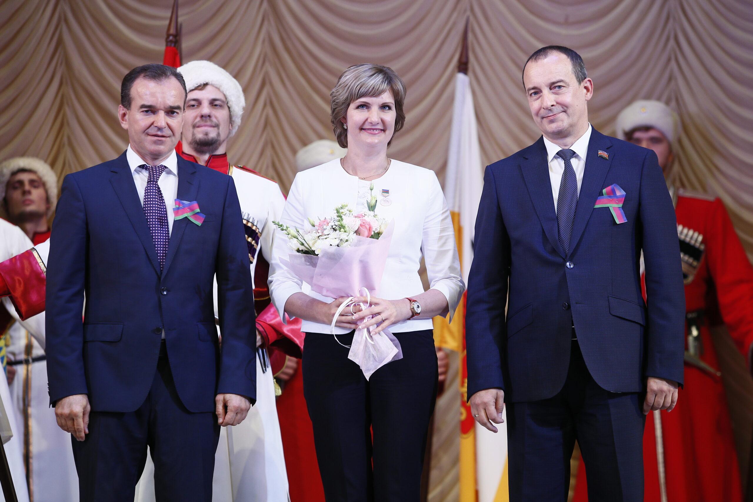 Награды из рук губернатора получили жители Абинского района