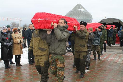 На абинском городском кладбище состоялось захоронение останков воинов, погибших в годы Великой Отечественной войны