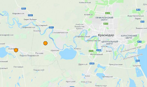 В Северском районе зафиксировали землетрясение
