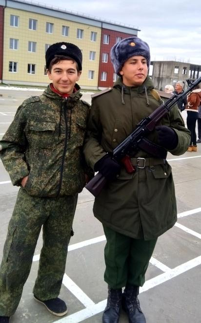Молодой холмский казак принял воинскую присягу