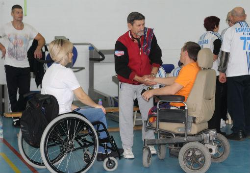 В спорткомплексе города Абинска состоялась традиционная районная спартакиада инвалидов