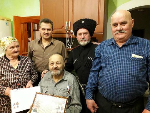 Казак Эриванского хуторского казачьего общества отметил 80-летний юбилей