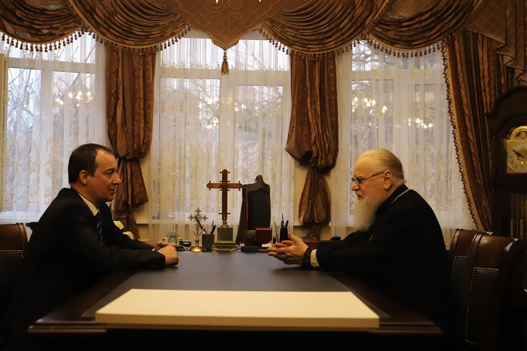 Спикер ЗСК встретился с митрополитом Екатеринодарским и Кубанским Исидором