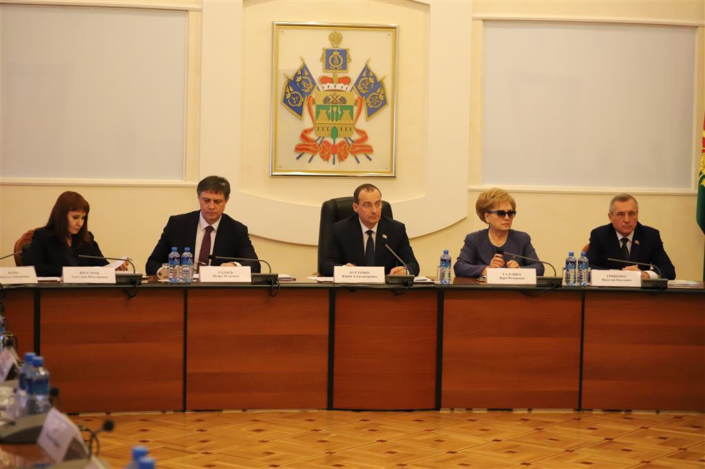 Совет законодателей Кубани одобрил ряд социально значимых инициатив