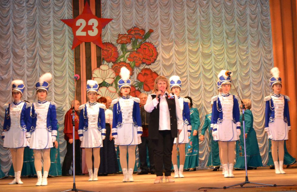 В поселке Ахтырском прошел праздничный концерт к Дню защитника Отечества