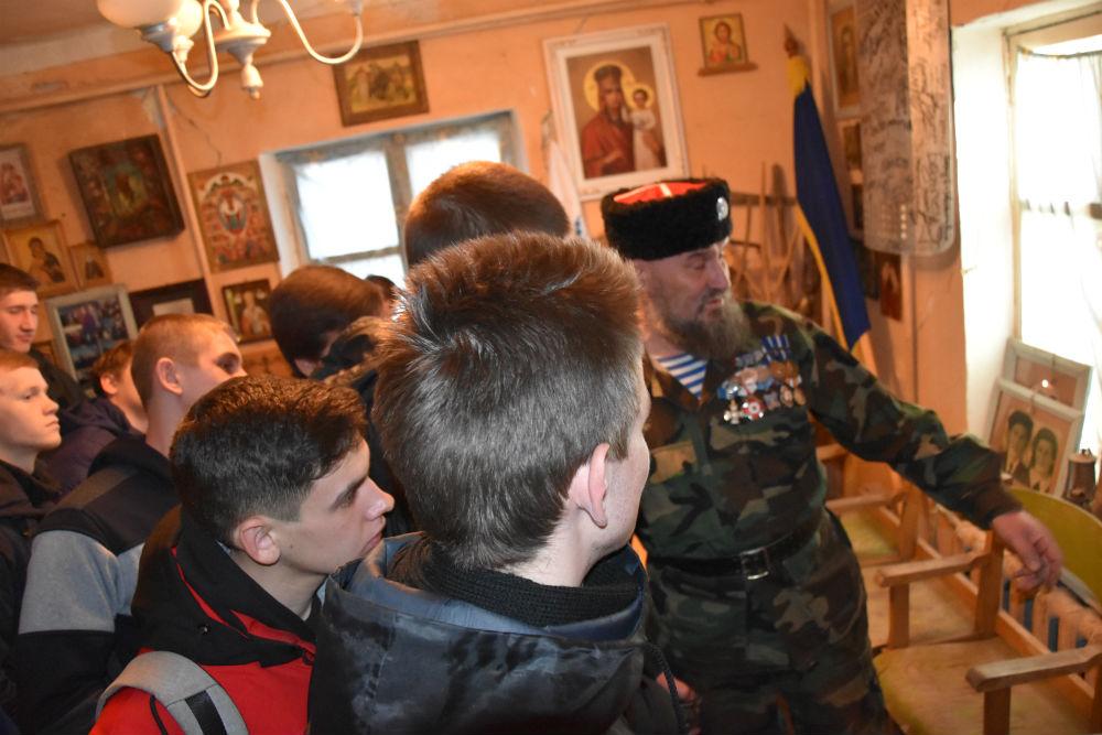 Абинские казаки встретились с допризывниками