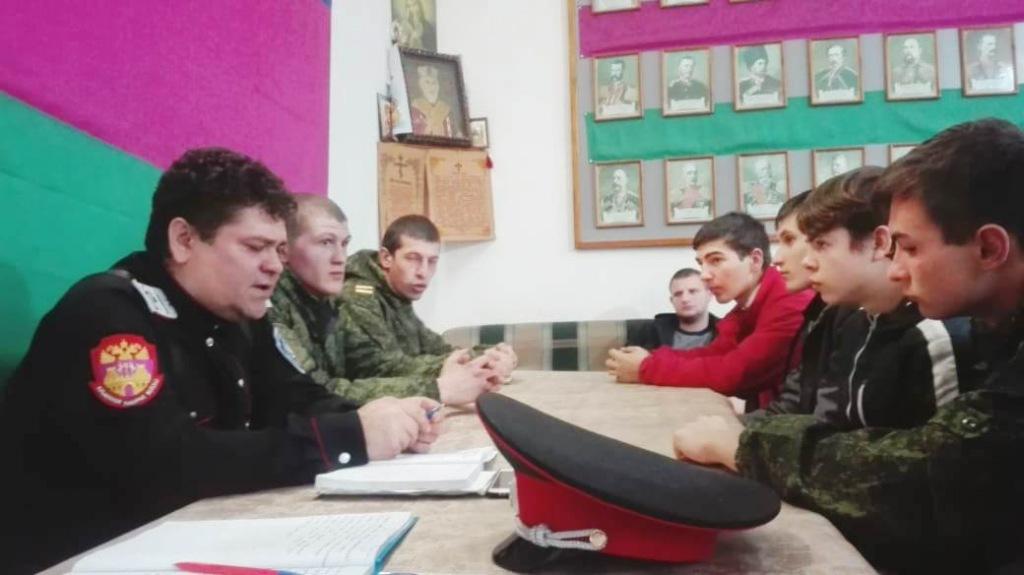 В штабе Холмского станичного казачьего общества прошла встреча казачьей молодежи