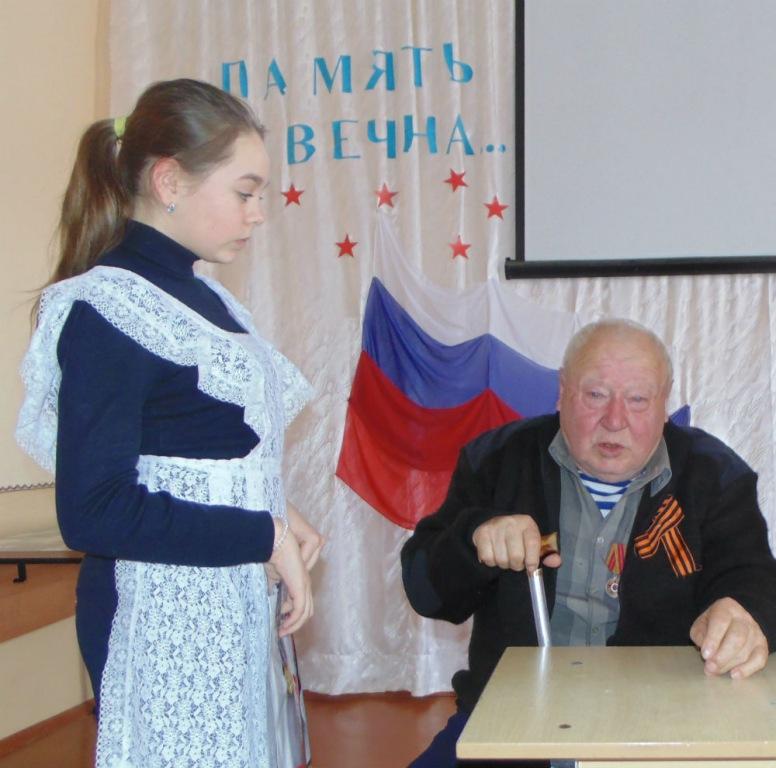 Состоялась встреча школьников с бывшим малолетним узником концлагеря