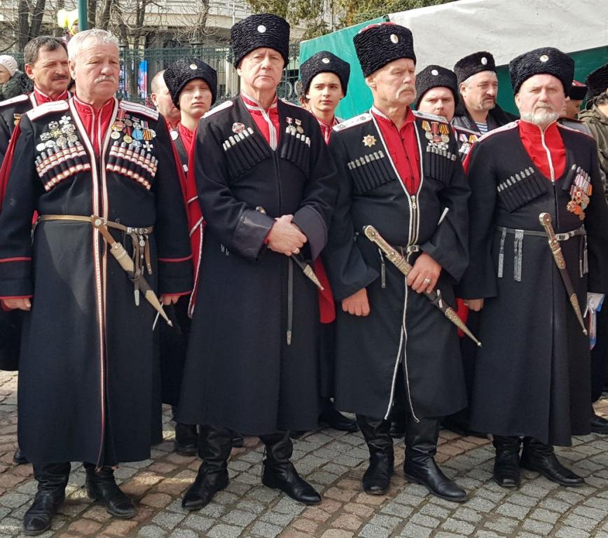 Делегация Абинского районного казачьего общества приняла участие в торжествах, посвященных пятой годовщине присоединения Крыма к России