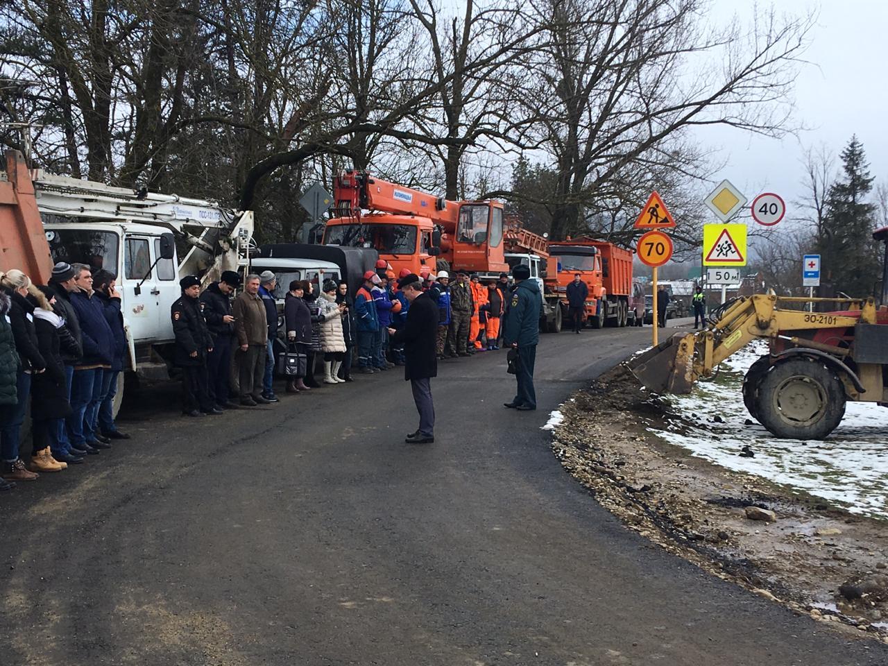 По поступившей вводной, часть территории станицы Шапсугской оказалась в зоне подтопления