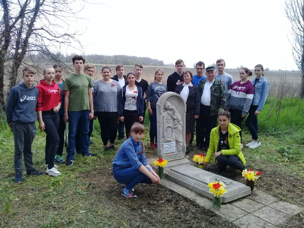 Девятиклассники школы ст. Федоровской провели акцию «Спасибо деду за победу!»