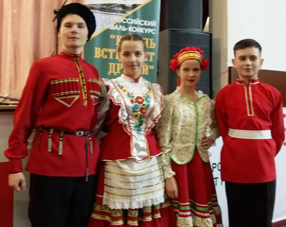 Юные казачата из Мингрельской приняли участие во II Всероссийском фестивале-конкурсе в Казани