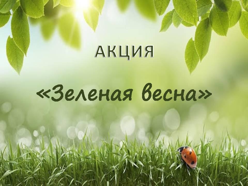 Абинск присоединится к экологической акции «Зеленая весна»