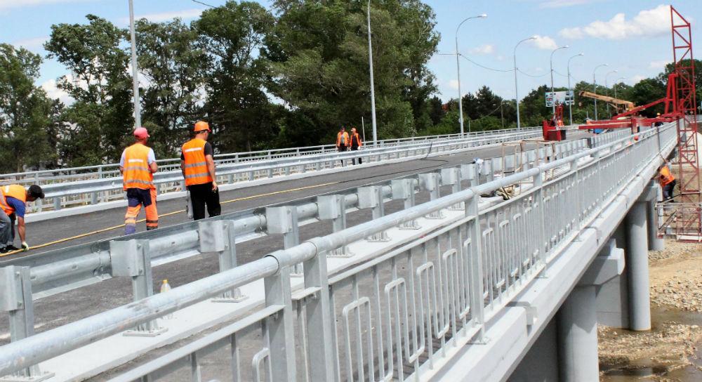 Автомобильный мост в Абинске. Скоро поедем