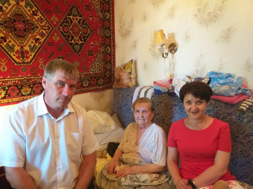 В гостях у участницы Великой Отечественной войны.