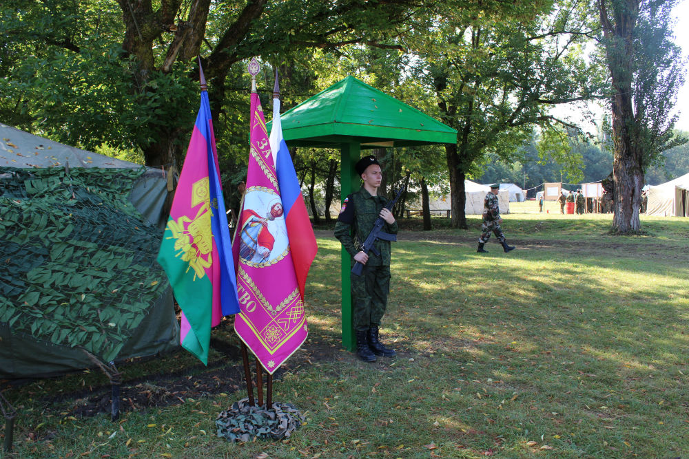 В Абинском районе прошли ежегодные военно-полевые сборы Первой Таманской казачьей дивизии