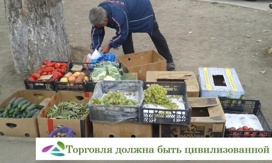 В Абинском городском поселении продолжают бороться с несанкционированной торговлей