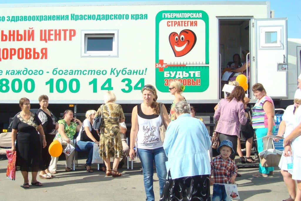 Бригада   мобильного Центра здоровья ГБУЗ «Центр медицинской профилактики» работала в поселке Ахтырском