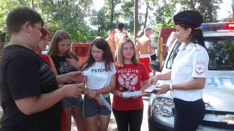 В Абинском районе сотрудники Госавтоинспекции и общественники встретились с юными участниками дорожного движения