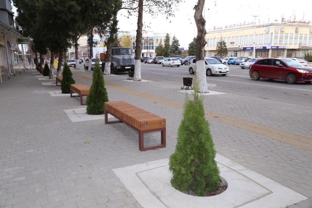 Теперь проспект Комсомольский в районном центре украшают саженцы туи и платана.