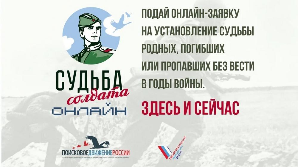 На Кубани запущен проект «Судьба солдата онлайн»