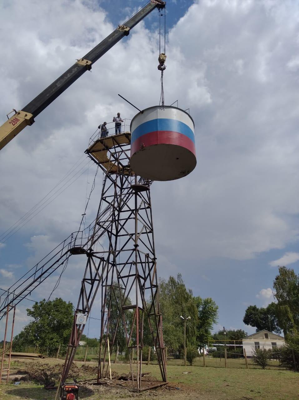 В поселке Пролетарий – новая водонапорная башня