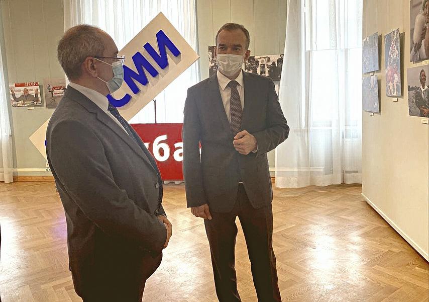 Вениамин Кондратьев проводит встречу с представителями районных газет