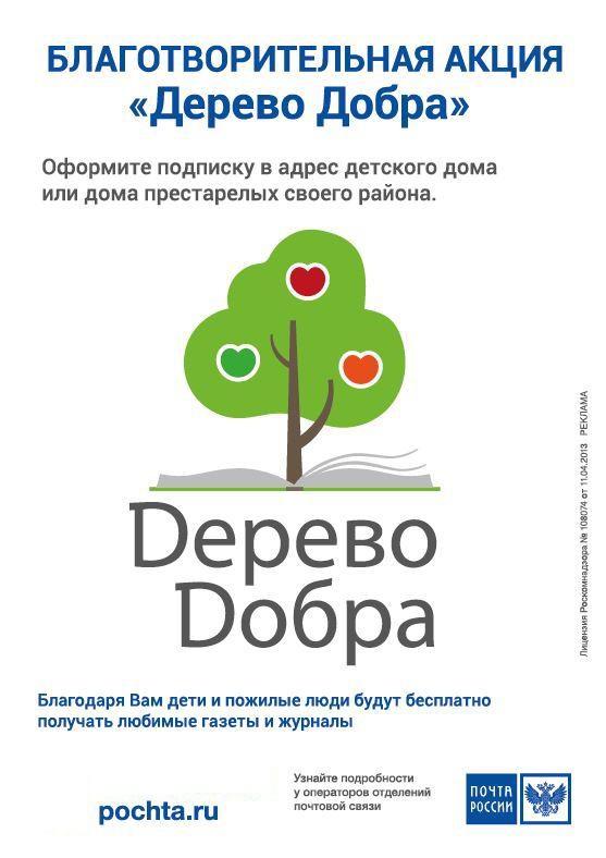 В 2020 году жители Кубани оформили на почте свыше 4 тысяч благотворительных подписок для социальных учреждений