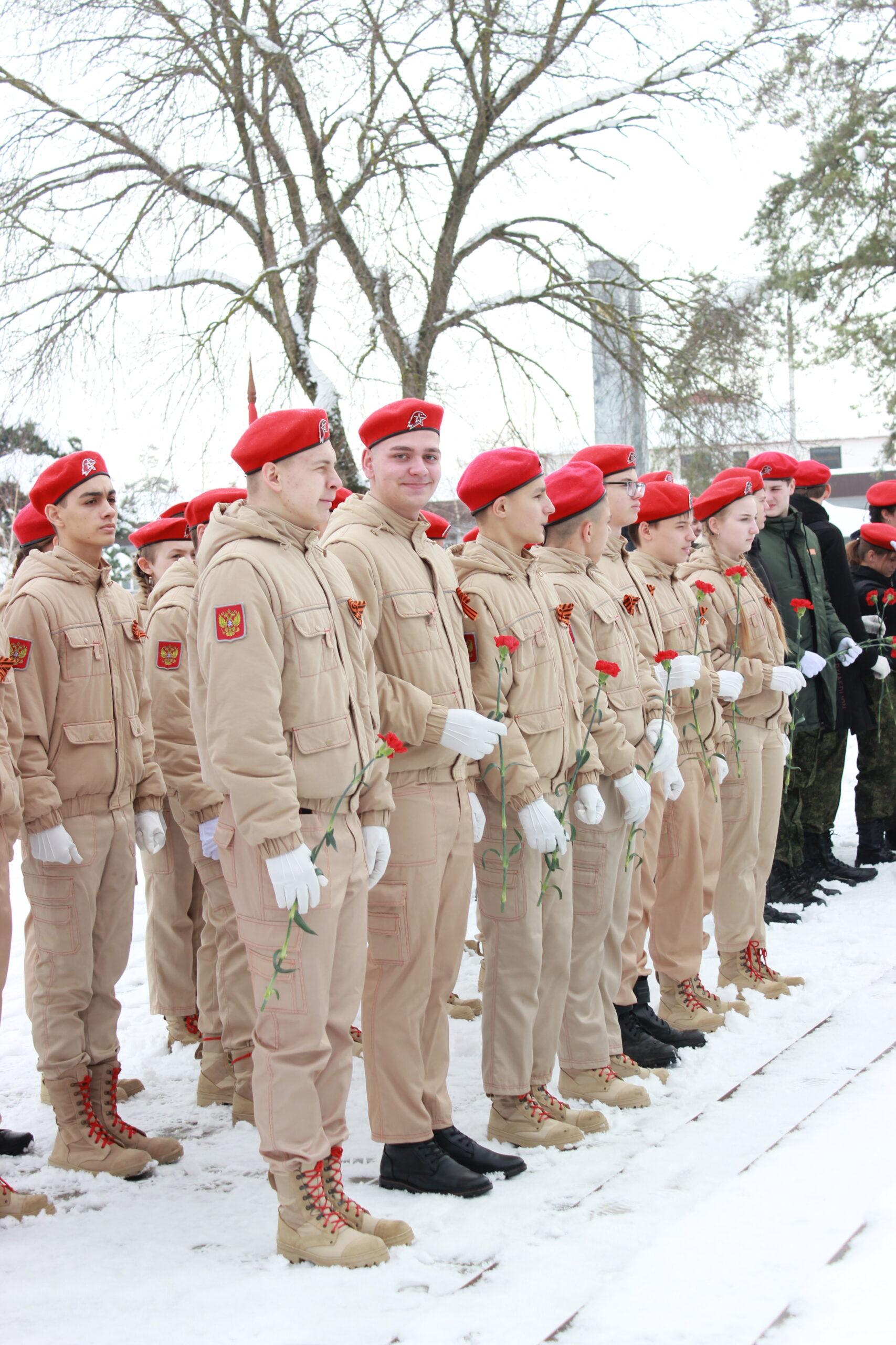 Юнармейцы дали клятву на верность Отечеству