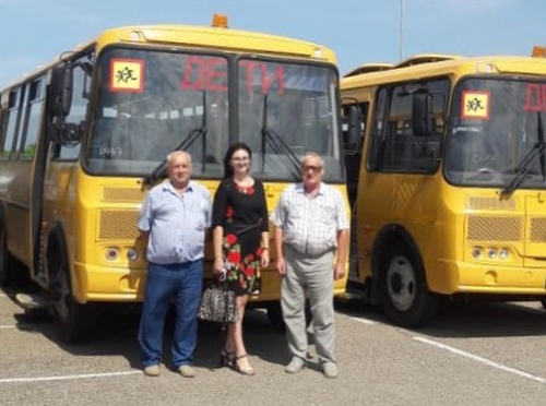 Новые автобусы для абинской школы