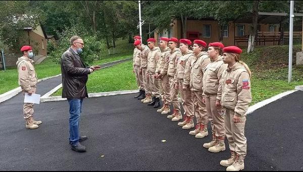 Юнармейцы Абинского района участвуют в соревнованиях